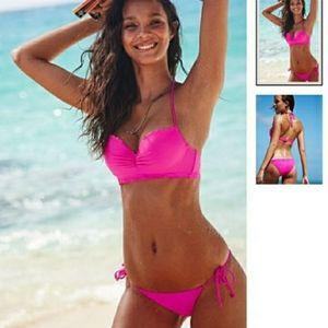Victoria Secret Pink Getaway Halter Bikini Set L